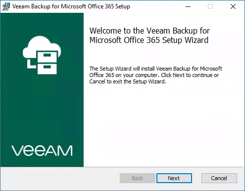 Veeam backup office 365 etape1