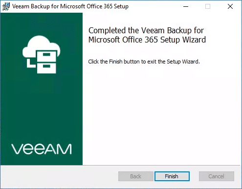 Veeam backup office 365 etape4