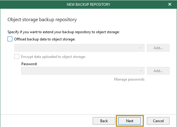 Veeam backup office 365 etape15
