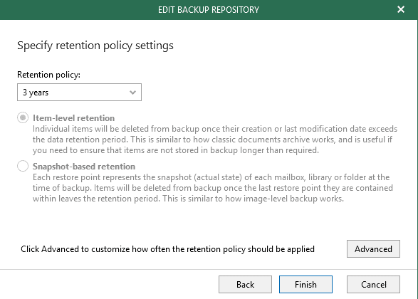 Veeam backup office 365 etape16